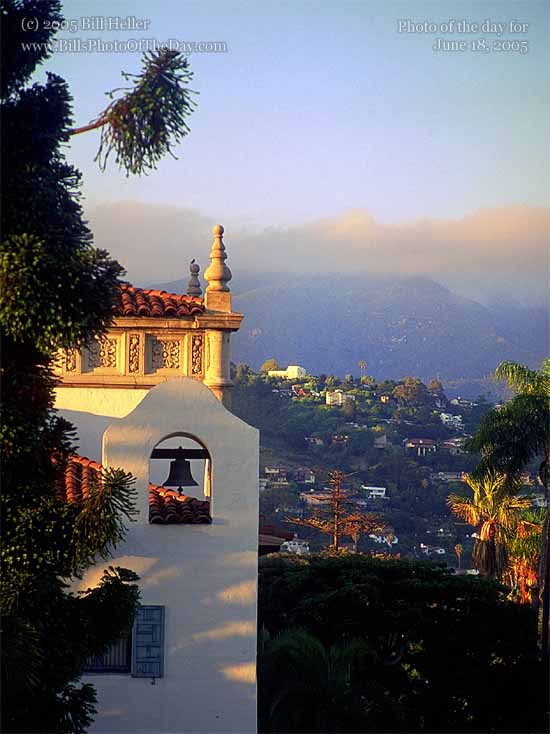 Santa Barbara Courthouse Bell, overlooking the city