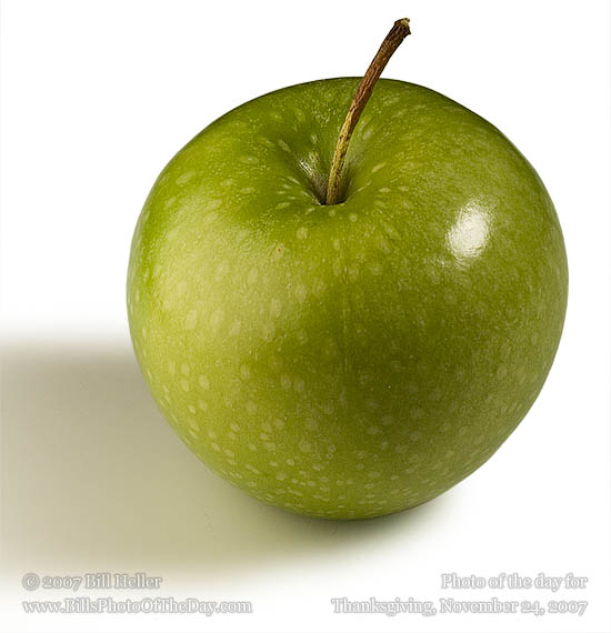 Isolated Baby Granny Smith apple on a white background