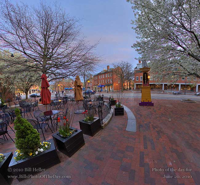 360° view of the Newburyport, Massachusetts sunset