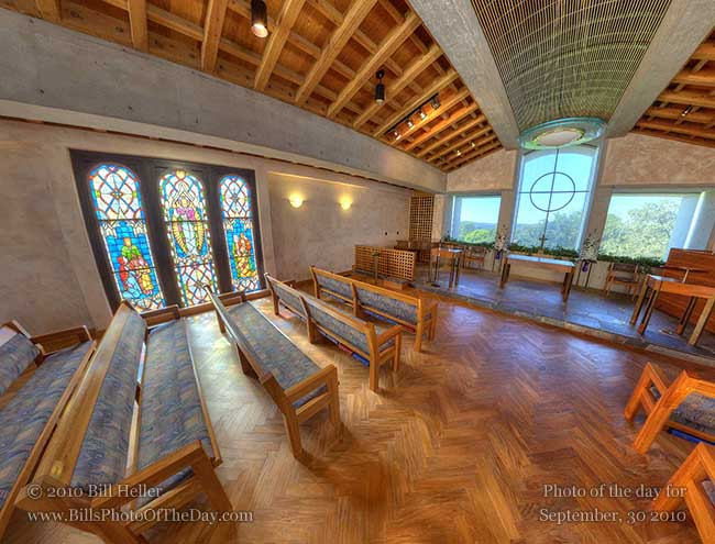 360° view of the First Presbyterian Church Chapel, Santa Barbara, CA
