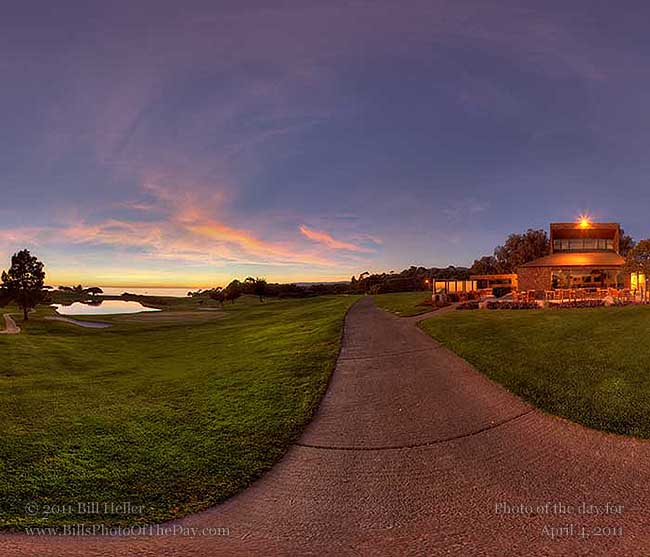 360° sunset view from the path at the Sandpiper Golf Course