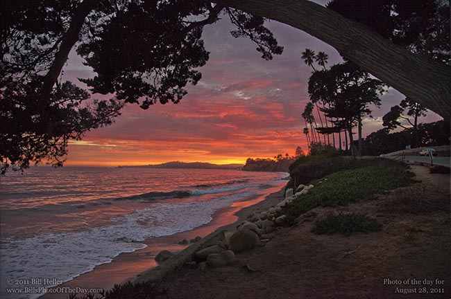 Santa Barbara Sunset from Butterfly Beach