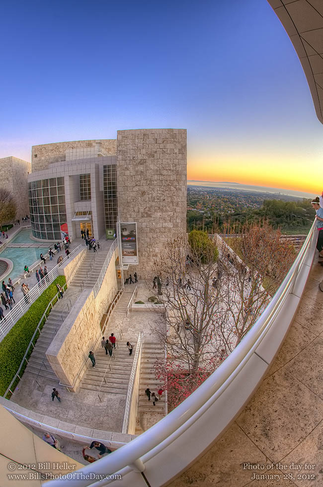 The Getty Center West Pavillion at Sunset