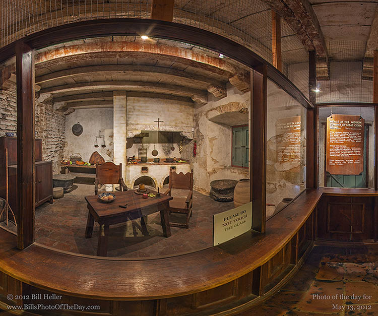 Santa Barbara Mission Kitchen in 360 degree VR