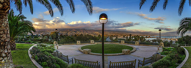 Panoramic View of Santa Barbara from Santa Barbara City College