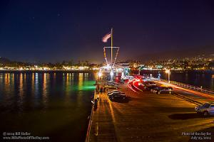 Friday, July 25, 2014 - Evening Over Stearns Wharf
